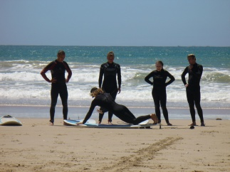 Beach Music, Jeffreys Bay, Surf lesson