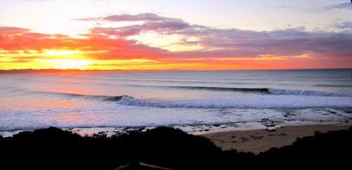 Beach Music, Jeffreys Bay, South Africa, Winter Morning waves